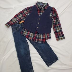 3 Piece Toddler Jeans Outfit